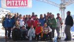 Die Teilnehmer auf den Pitztaler Gletscher